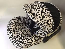 details about baby car seat cover canopy cover fit most infant car seat cow print white black