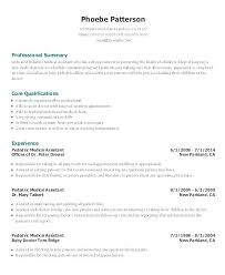 Medical Assistant Resume Samples Cool Medical Assistant Resume Objective Examples Entry Level Objectives