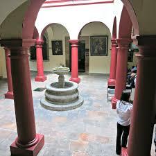 the casa de la zacatecana in queretaro shows the traditional open courtyard common in mexican house