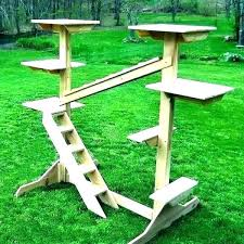 outdoor cat tree house cat diy outdoor cat tree house