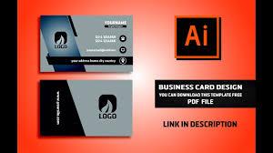 Free Design Business Cards Business Card Design Vector File Free Download Illustrator Cc Tutorial 2017