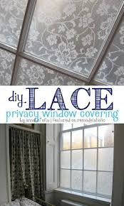 window coverings for bathroom. DIY Lace Privacy Window Covering   Annabel Vita On Remodelaholic.com #AllThingsWindows #privacy Coverings For Bathroom .