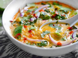 Rice noodles meet veggies in a tasty sweet, sour, salty, and spicy broth with creamy coconut milk. Thai Red Curry Vegetable Soup Recipe Budget Bytes