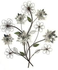 metal flower wall decor on silver metal wall art flowers