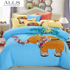 queen size cartoon bedding for winter lion elephant comforter cover set 100 cotton warm bed sheets duvet cover kids bedding set designer comforter sets