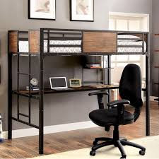 industrial style loft bed. Interesting Industrial Furniture Of America Markain Industrial Metal Loft Bed With Workstation With Style R