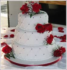 11 Red And White Wedding Cakes By Pinterest Photo Black And White