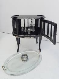 Beistelltisch Silber Antik Teeschrank Barschrank Stil Rund