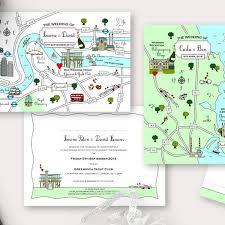 Cute Map Postcard Invitation Save The Date Info Card Cute Maps