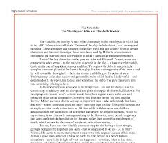 the crucible the marriage of john and elizabeth proctor gcse  document image preview