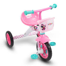 Huffy Disney Minnie Mouse Lights And Sounds Folding Trike Disney Minnie Girls Steel Tricycle By Huffy