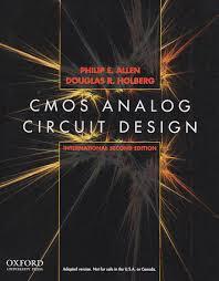 Cmos Analog Circuit Design Allen Holberg 2nd Edition Cmos Analog Circuit Des Internat Ed 2nd Allen Holberg