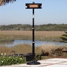 fire sense black powder coated steel telescoping offset pole mounted infrared patio heater hayneedle