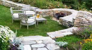 maine landscaping design stone walls