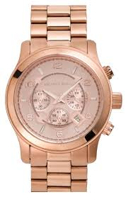 michael kors large runway rose gold plated watch 45mm nordstrom