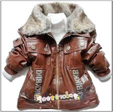toddler faux fur jacket retail children outerwear boys faux leather with faux fur collar baby kids toddler faux fur jacket