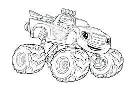 Coloring Monster D7387 Monster Truck Color Pages Free Printable Semi