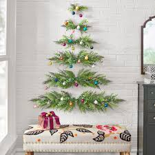 Christmas Tree Design On Wall With Lights This Minimal Wall Mounted Christmas Tree Will Save Space In Smaller Homes