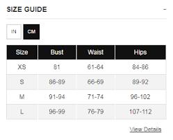 Yogalicious Size Chart