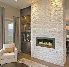 A partial wall looks great when treated with an earthy, textural stone  finish.