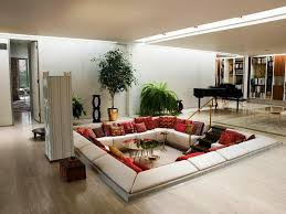 Living Room , Creating Unusual Welcoming Space Through Unique Living Room  Ideas : Living Room In Lower Level For Unique Design Idea