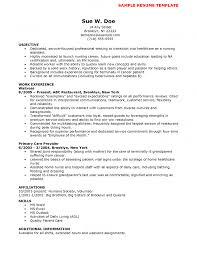 Nursing Resume Objective Statements Resumes Templates Nurse Section