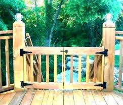 deck gates for pets dog gate for front porch home outdoor deck dog gates