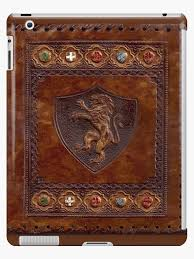 hand tooled leather meval book cover by larry oates