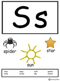 Free Alphabet Flash Cards Letter S Alphabet Flash Cards For Preschoolers