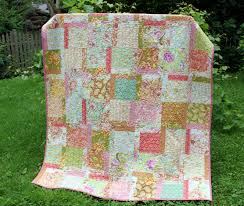 """Freshcut Quilt { Machine Quilting } - The Cottage Mama & I made this quilt out of Heather Bailey's, """"Freshcut"""" fabric line, which  has since gone out of print. I used a fat quarter set and a jelly roll for  this ... Adamdwight.com"""