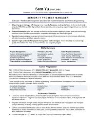 Product Management Resume Product Manager Resume Keywords Best Of Experienced It Project 74