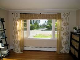 ... Living Room Window Treatments With Wooden Floor And Curtain With Window:  good ...