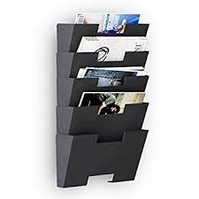 hanging office organizer. hanging wall file folder steel magazine newspaper rack holder cascading organizer 5 pack black office y