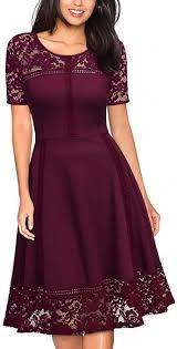 Amazon Com Missmay Womens Vintage 1950s Floral Lace