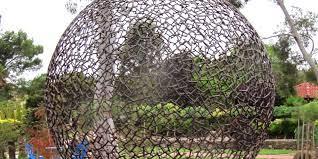 metal art in the garden