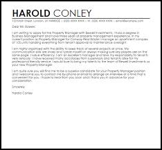Assistant Property Manager Cover Letter Letter Property Manager