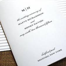 Wedding Ceremony Program Cover Monogram Wedding Program Cover Ceremony Booklet Covers Template