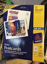 Avery 8383 Avery Inkjet Postcards Index Cards 200 4 Cards Sheet 4 1 4