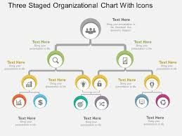 Cs Three Staged Organizational Chart With Icons Flat