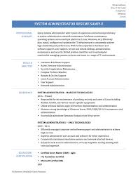 system administrator resume sample administrator resume
