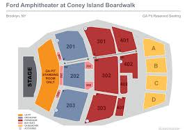 Nyack Levity Live Seating Chart Seating Ford Amphitheater At Coney Island Boardwalk