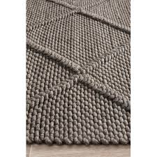 network rugs grey hand woven flatweave wool viscose rug