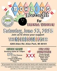 Fundraiser Wording For Flyer Benefit Flyer Wording Bowling Fundraiser Flyer Design Event Planning