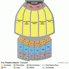 fox theatre atlanta seating chart guide front row seats