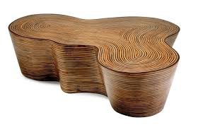 round rattan coffee table. Rattan Coffee Table Pertaining To Organic Striped Wood Mecox Gardens Design 15 Round