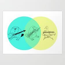 Artist Venn Diagram Keytar Platypus Venn Diagram Art Print