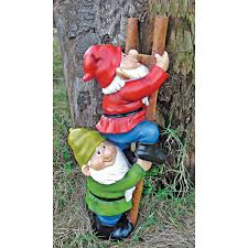 design toscano up the ladder climbing garden gnome statue design toscano up the ladder climbing garden gnome statue