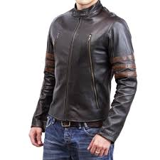 wolverine biker genuine leather jacket