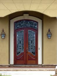 entry door stained glass inserts beautiful custom wood door with leaded glass windows and arch top