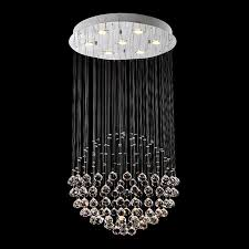 vallkin round crystal chandelier lighting fixtures size d23 62 h31 50 modern fashion indoor hotel deco hanging lamps crystal pendant ight crystal